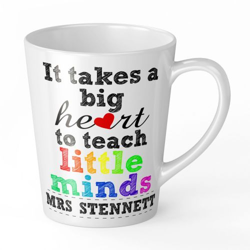 12oz Personalised It Takes A Big Heart To Teach Little Minds Novelty Gift Mug